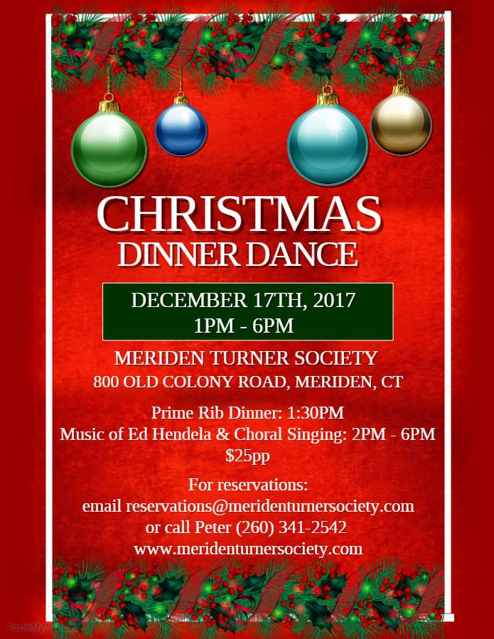 christmas dinner dance at the meriden turner halle
